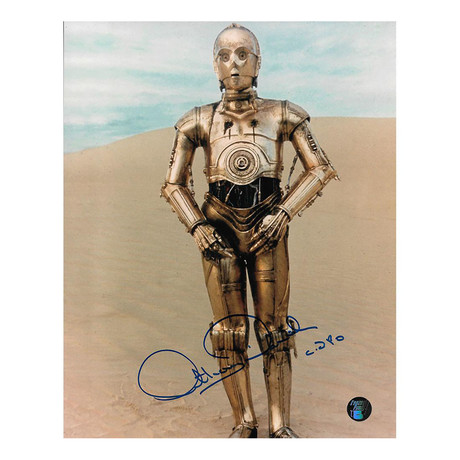 Anthony Daniels // Star Wars // Autographed Photo
