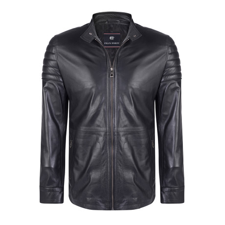 Evander Leather Jacket // Black (S)