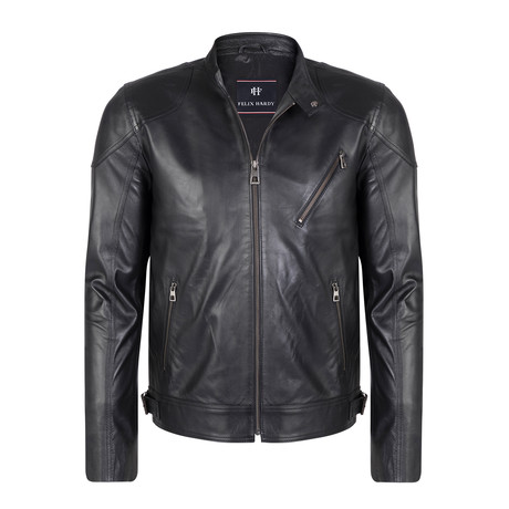 Amulius Leather Jacket // Black (S)