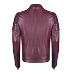 Faunus Leather Jacket // Bordeaux (3XL)
