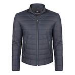 Numitor Leather Jacket // Navy (S)