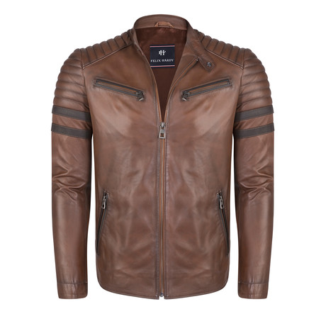 Summanus Leather Jacket // Chestnut (S)