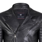 Vulcan Leather Jacket // Black (L)