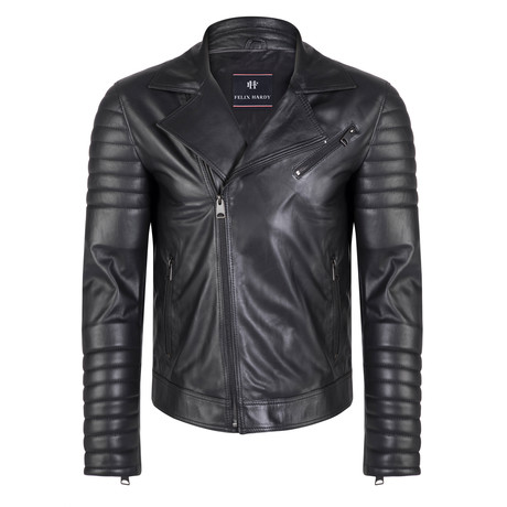 Vulcan Leather Jacket // Black (S)