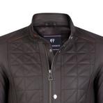 Quirinus Leather Jacket // Brown (XL)