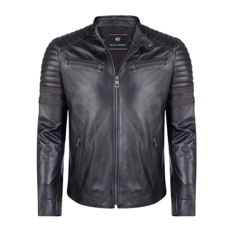 Italus Leather Jacket // Black (S)