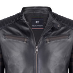 Italus Leather Jacket // Black (XL)