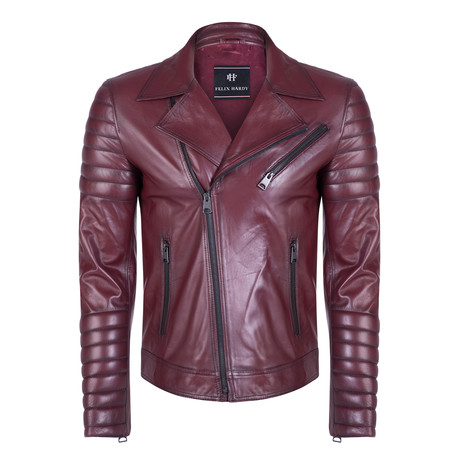 Faunus Leather Jacket // Bordeaux (S)