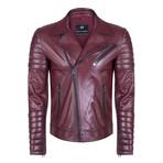 Faunus Leather Jacket // Bordeaux (XL)