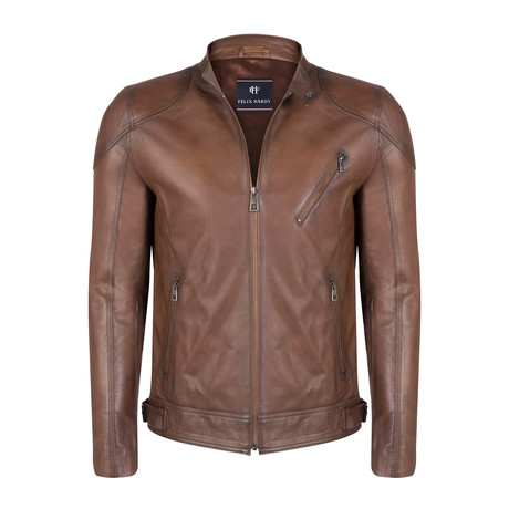 Romulus Leather Jacket // Chestnut (S)