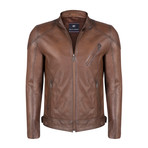 Romulus Leather Jacket // Chestnut (L)