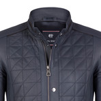 Remus Leather Jacket // Navy (2XL)