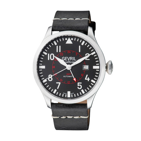 Gevril Vaughn GMT Swiss Automatic // 44503