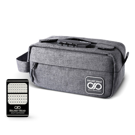 Compact Smell Proof Case // Sc30 Gray + Grinder Card