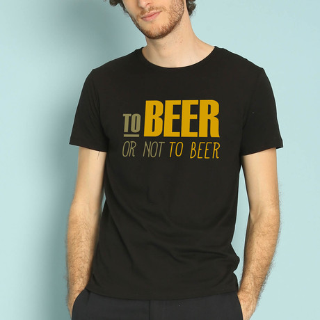 To Beer Or Not To Beer T-Shirt // Black (S)
