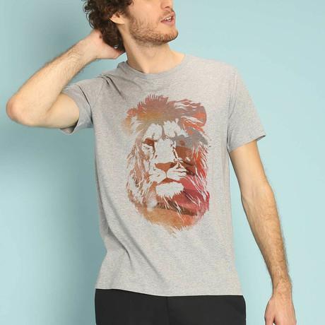 Desert Lion T-Shirt // Gray (S)