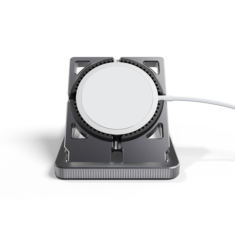 Machined Aluminum Dock Stand // For Apple Magsafe Charger + Watch Charger (Graphite)