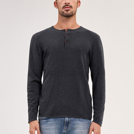 Crawford Knit Sweater // Charcoal (M)