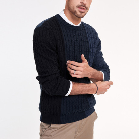 Cooper Knit Sweater // Navy (M)