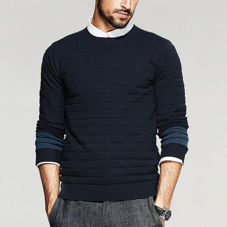 Isaac Knit Sweater // Navy (M)