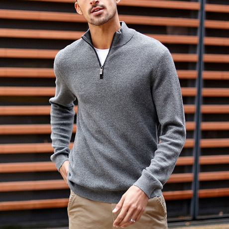 Darby Knit Sweater // Gray (M)