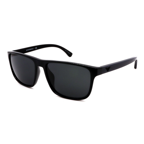 Emporio Armani // Men's EA4087-50178759 Square Sunglasses // Black + Gray