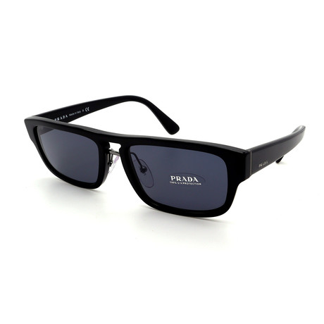 Prada // Men's PR05VS-1AB0A9-56 Sunglasses // Black + Gray + Blue