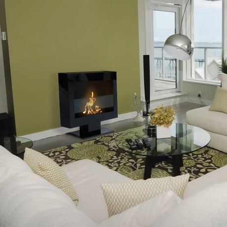 Anywhere Fireplace Tribeca II // Indoor Floor Standing Fireplace + 6-Pack SmartFuel