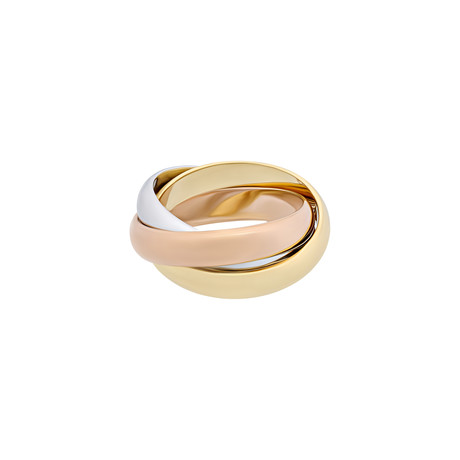 Cartier // 18k Yellow Gold + 18k White Gold + 18k Rose Gold Trinity Ring // Ring Size: 5.25 // Pre-Owned