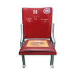 Beliveau + Richard + Cournoyer // Signed Montreal Canadiens Forum Seat
