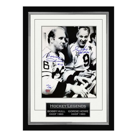 Bobby Hull + Gordie Howe // Signed Limited Edition Photo