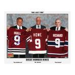 Bobby Hull // Signed Photo // Three Great Nines: Maurice Richard, Gordie Howe, Bobby Hull