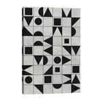 """My Favorite Geometric Patterns No.12 - Grey // Zoltan Ratko (26""""W x 40""""H x 1.5""""D)"""