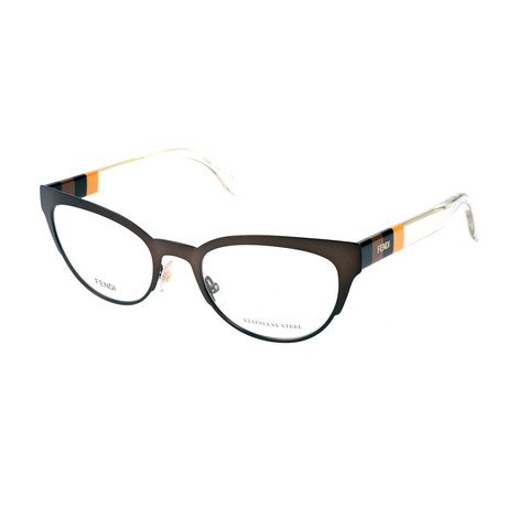 Women's 0081 Optical Frames // Matte Brown + Transparent