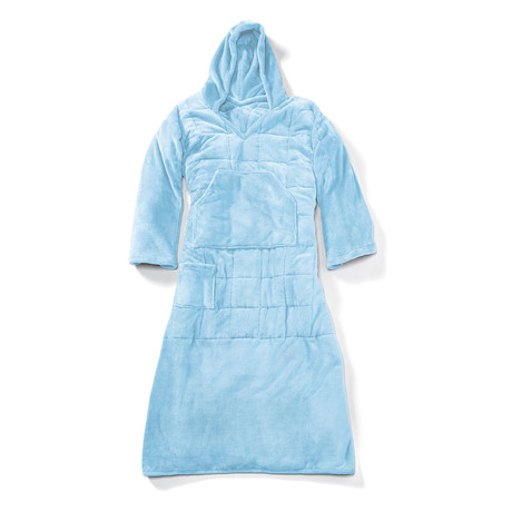 Wearable 10 lb Weighted Snuggle // Light Blue