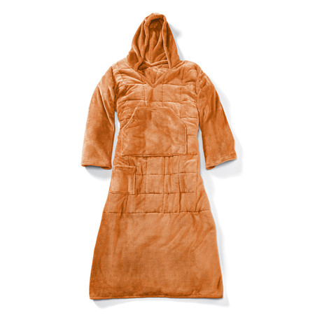 Wearable 10 lb Weighted Snuggle // Burnt Orange
