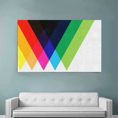 """Colorful Triangles (36""""W x 54""""H x 1.5""""D)"""