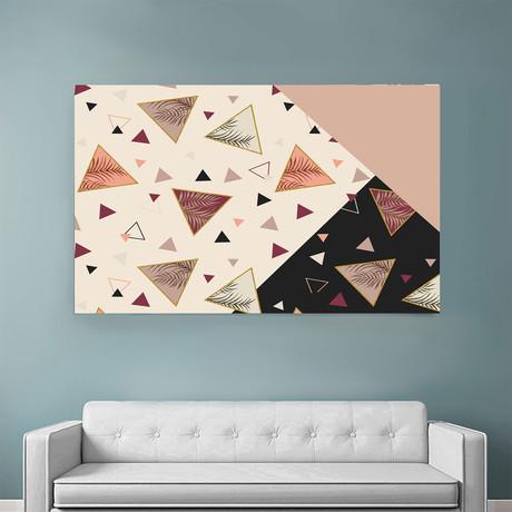 "Triangles &Palms (48""W x 54""H x 1.5""D)"