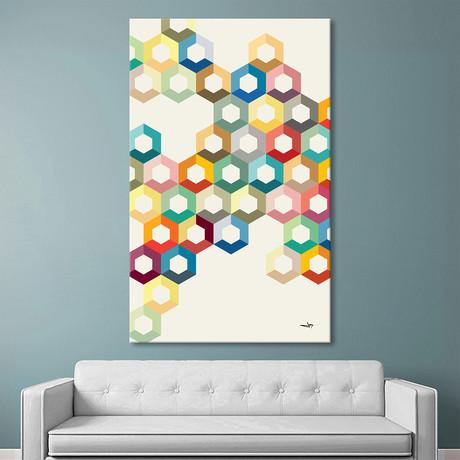 "Colorful Honeycomb (36""W x 54""H x 1.5""D)"