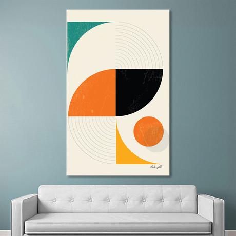 "Mid Century Modern Abstract Pop, Retro Style (36""W x 54""H x 1.5""D)"