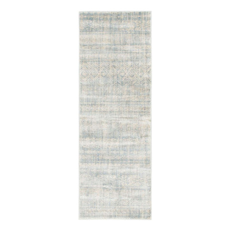 "Unique Loom Sardinia Helios Rug // Light Blue (26"" x 72"")"