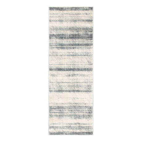 "Unique Loom Mykonos Helios Rug // Gray (26"" x 72"")"