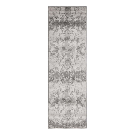 "Unique Loom Metro Glaze Rug // Light Gray (24"" x 79"")"