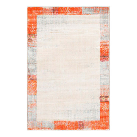 "Unique Loom Canaries Helios Rug // Orange (48"" x 72"")"