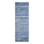 """Unique Loom Sardinia Helios Rug // Navy Blue (26"""" x 72"""")"""