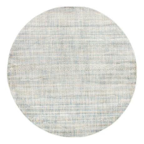 Unique Loom Sardinia Helios Rug // Light Blue // Round