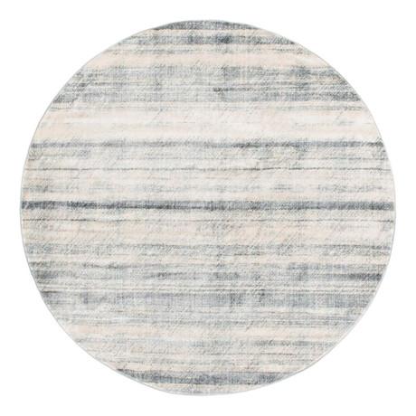 Unique Loom Mykonos Helios Rug // Gray // Round