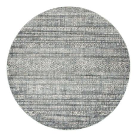 Unique Loom Sardinia Helios Rug // Gray // Round