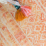 "Unique Loom Sardinia Helios Rug // Orange (26"" x 72"")"