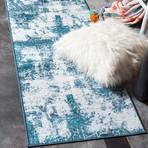 """Unique Loom Rainier Sofia Rug // Navy Blue (24"""" x 156"""")"""